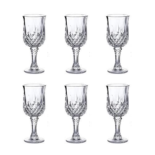 Hs&sure Copa de Vino Tinto, vástago Corto de Vidrio Transparente de Cristal Transparente Transparente, Conjunto de Copa de Vino Tinto de 6, Encanto de Vidrio de Vino (Size : 170ML)