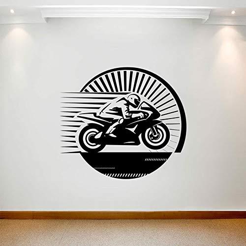 Calcomanía de pared de carreras de motos, calcomanía de vinilo para puertas y ventanas de deportes de motocicleta, dormitorio para adolescentes, sala de juegos, Club, interior, arte decorativo, Mural