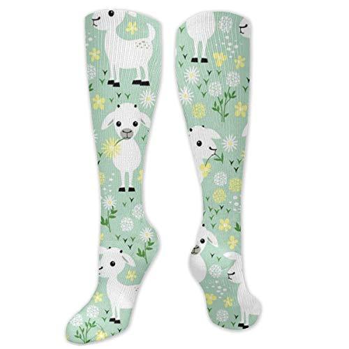 geiten op groen zowel mannen als vrouwen compressie sokken atletische hardlopen verpleegkundige kousen