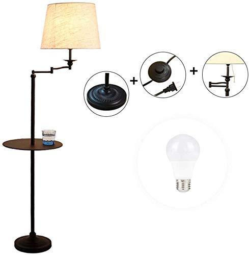 DXXWANG Lámpara de pie, luces decorativas para lectura, dormitorio led, sala de estar, mesita de...