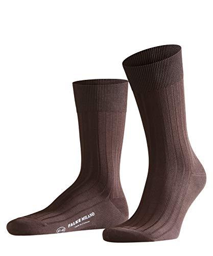 FALKE Herren Socken Milano - 97% Baumwolle, 1 Paar, Braun (Brown 5930), Größe: 39-40