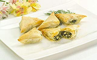 Spanakopita - Vegetarian Gourmet Frozen Appetizers (48 Piece Tray)