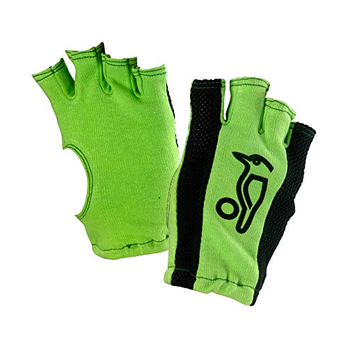 KOOKABURRA Unisex-Jugend Fingerlose Batting Inners Handschuhe, Grün/Schwarz
