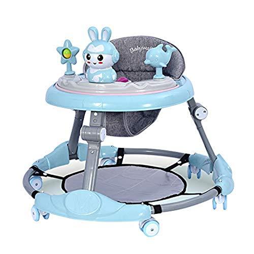 NHK-MX Andador para bebé Multifunción de Actividades o tacatá Ruedas Silenciosas Plegable Carga máxima 25 kg para niños y niñas de 6 a 18 Meses (Color : Blue)