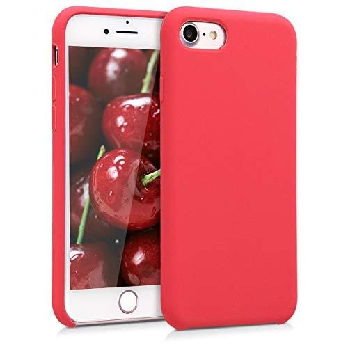 kwmobile Cover Compatibile con Apple iPhone 7/8 / SE (2020) - Custodia in Silicone TPU - Back Case Protezione Cellulare Rosso Fluo