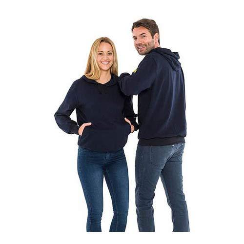 Safeguard SKS-THSS-NB4XL-V-SAFEGUA ESD Sweatshirt mit Kapuze, 280g/m², 4XL, Marineblau