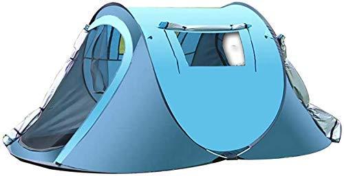 YBB-YB YankimX - Tienda de campaña de apertura rápida para 2 o 3 personas, refugio al aire libre, cabaña instantánea, toldo portátil para senderismo, supervivencia y montañismo (color: azul)