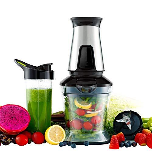 SXXYTCWL Nahrungsmittelhacker Electric Gemüse und Früchte Chopper Edelstahl Food Processor 550 Watt (Farbe: Metallic) jianyou
