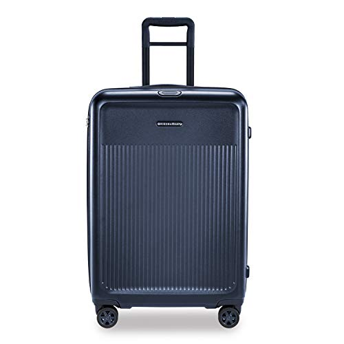 Briggs & Riley Sympatico Hardside Large Spinner Luggage, Matte Navy, 30-Inch Checked