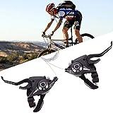 Bremshebel Schalthebel Set Schalthebel mit Bremskabel 7/8 Fach Gangschaltung für Fahrräder Rennrad Mountainbike