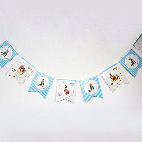 Luck and Luck Peter Rabbit Bunting Garland Hop Little Bunny 3m Party Decoration