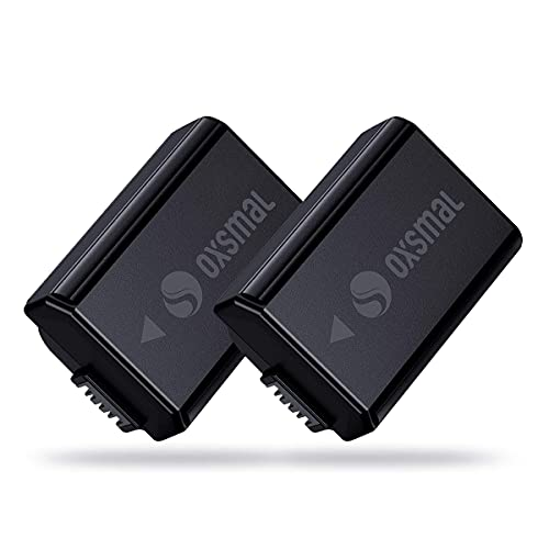 Oxsmal NP-FW50 - Batería para cámara Sony Alpha 6000/6500/6400/6300/7/7 II/NEX 3/5/7 y SLT-A Series, 1100 mAh, conector micro USB y tipo C de carga (2 unidades)