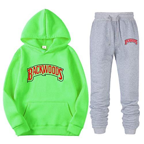 Sherpa Lining Men's And Women's Backwoods Hoodie Workout Clothes Polar Fleece Casual Shirt Hip-Hop Sweatpants Suit XL