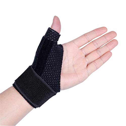 Dr.Welland Reversible Thumb & Wrist Stabilizer splint for BlackBerry Thumb, Trigger Finger, Pain Relief, Arthritis, Tendonitis, Sprained and Carpal Tunnel Supporting, Lightweight and Breathable L/XL
