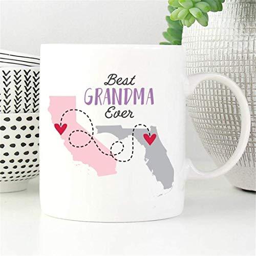 Taza de café para abuela, regalo para el día de la madre, regalo para el día de la madre, taza de café para la abuela, taza de larga distancia