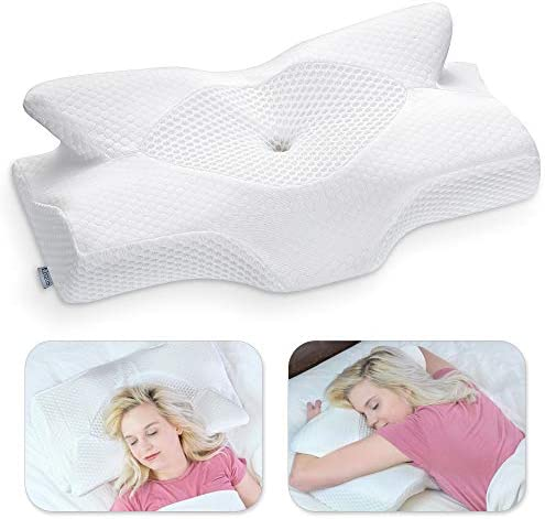 Elviros Cervical Memory Foam Pillow Contour Pillows for Neck and Shoulder Pain Ergonomic Orthopedic product image