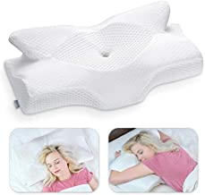 Elviros Cervical Memory Foam Pillow, Contour Pillows for Neck and Shoulder Pain, Ergonomic Orthopedic Sleeping Neck Support Pillow for Side Sleepers, Back and Stomach Sleepers