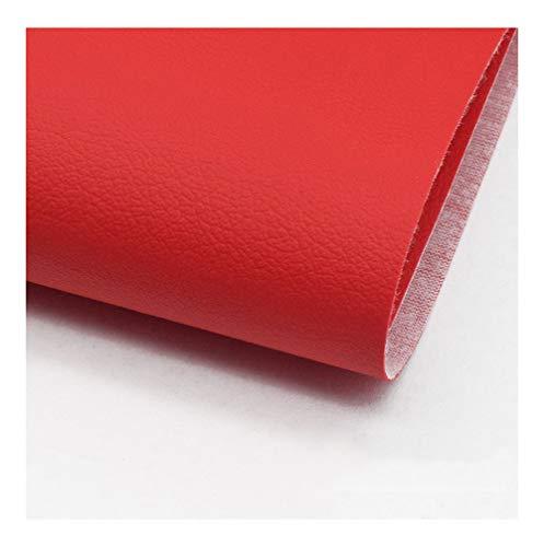 wangk Cuero de imitación Tela Cuero sintético Vinilo Paño de Cuero Material de Tela 138cm de Ancho 1 Metro de Polipiel para tapizar, Manualidades, Cojines o forrar Objetos-Rojo 1.38x4m