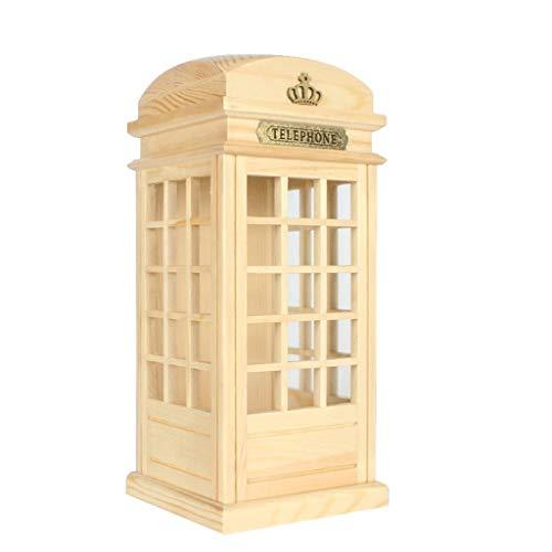 WQTR Hucha Cajas de Dinero de Londres Cabina de teléfono, Die Cast Dinero de Banco/la Moneda de Ahorro de Ahorro/Almacenamiento/Gran Bretaña, Reino Unido Recuerdo/for niños y Adultos de Todas Las e