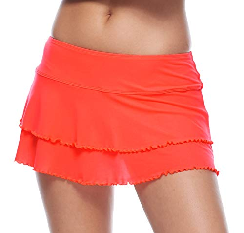 Body Glove Women\'s Lambada Solid Mesh Cover Up Skirt Swimsuit, Smoothie Spark, Large