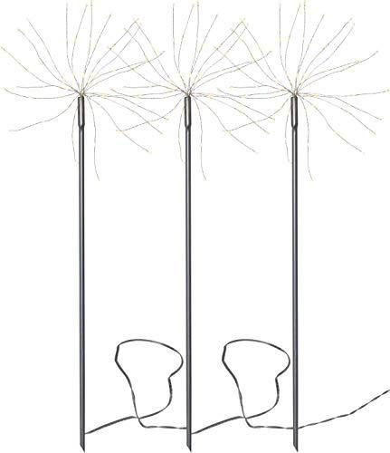 Star Firework Outdoor Gartenleuchte, Metall, Grau, 65x200cm