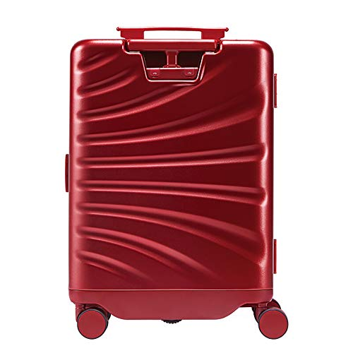 Maleta Inteligente Maleta Cabina Avion 30L 55x38x21 IntelliSense Seguimiento AutomáTico Equipaje De Mano Bluetooth Posicionamiento BateríA ExtraíBle Reconocimiento Del Cuerpo Humano Maletas,Rojo