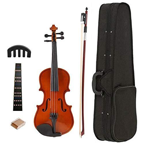 YUXIwang Violine 1/8 Schiene helle akustische Violine mit Rosin Case Bogen Schalldämpfer Kits Helle Geige Trainingser Set für musikalische Liebhaber Student Instrumente ( Color : Light Brown )