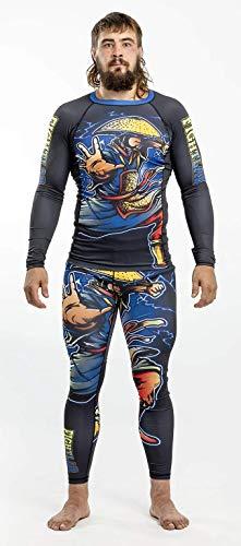 fightlab Muay Thai MMA K1 Ninja Warrior Rash Guard (Solo Guardia Rash), S