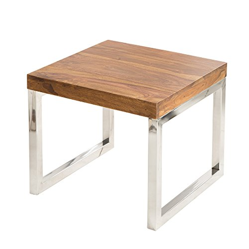 Table d'appoint design - ELEMENTS - 45cm, bois massif de Sheesham