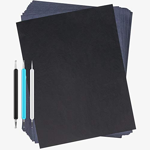 Dowsabel Carbon Transfer Paper, 36 Pack Black Graphite Tracing Papers for DIY...