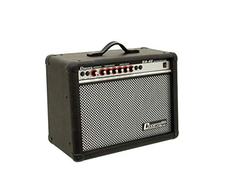 DIMAVERY GA-40R E-Gitarren-Amp 40 Watt Gitarrenverstärker mit digitalem Halleffekt