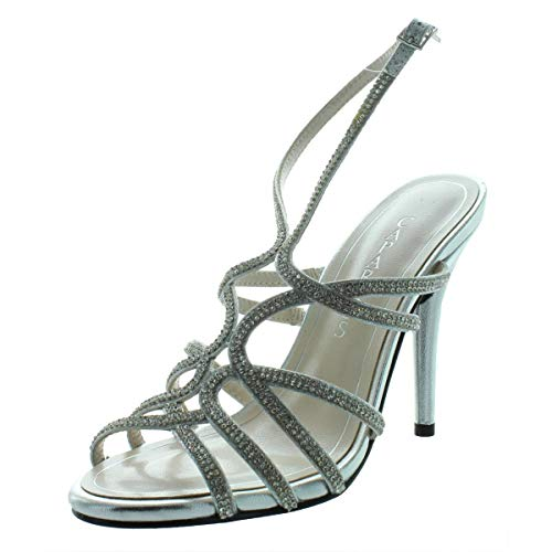 Caparros Helena Strappy Evening Sandals, Silver, 8 US