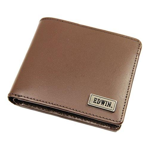 二つ折り財布 メンズ EDWIN(エドウィン 牛革 No.0510445 チョコ(Choco)