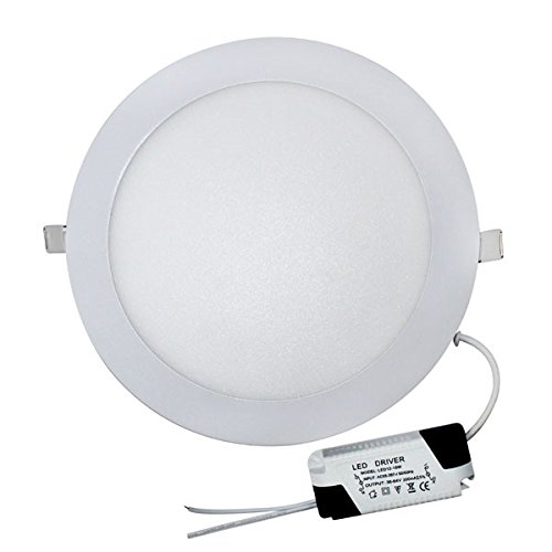 Downlight LED redondo extraplano 18W. 1590 lm. Luz fría (6000ºK). 30.000H. Color blanco.