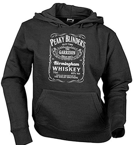 Camisetas EGB Sudadera Adulto/Niño Whiskey Peaky Blinders ochenteras 80´s Retro (Negro, XXL)