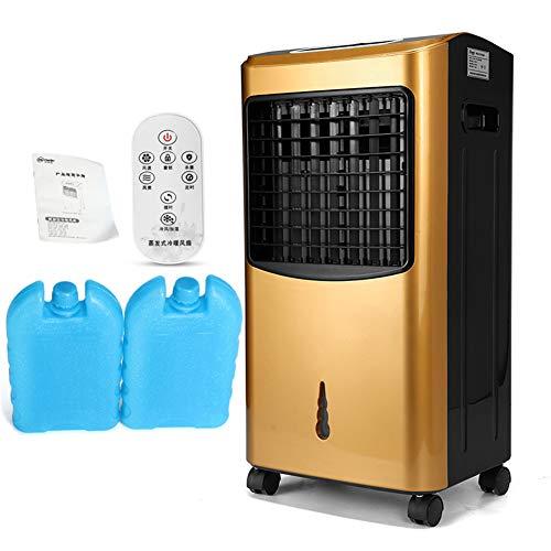 70W tragbare Hausklimaanlage, Klimaanlage Lüfter Luftbefeuchter Luftreiniger Heizung Kühlsystem Luftkühlerlüfter mit Fernbedienung,Gold