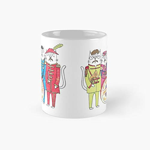 Sgt Peppurr's Lonely Hearts Cats Band Classic Mug Best Gift Funny Coffee Mugs 11 Oz