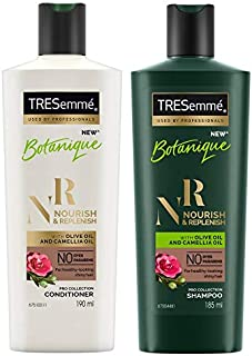 TRESemme Nourish and Replenish Conditioner, 190ml & TRESemme Nourish and Replenish Shampoo, 185ml