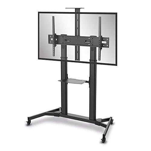 conecto® LM-FS03B Professional TV-Ständer Standfuß für Flachbildschirm LCD LED Plasma höhenverstellbar 60-100 Zoll (152-254 cm, bis 100 kg Tragkraft) max. VESA 1000x600mm, Stahl, schwarz