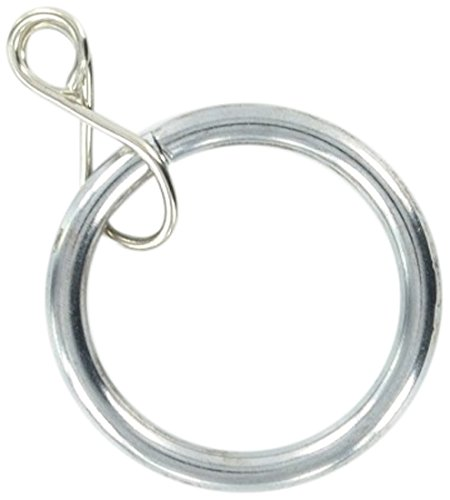 Merriway BH03213 metalen gordijnroede ringen met los oog, binnendiameter 20 mm buitendiameter 25 mm (1 inch) - helder chroom, 8 stuks