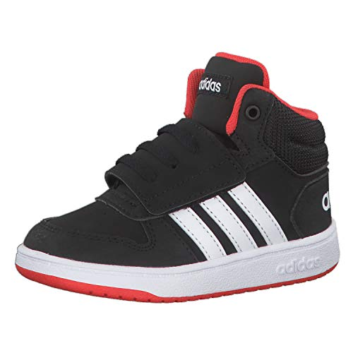 Adidas Hoops Mid 2.0 I, Zapatillas Unisex Niños, Multicolor (Core Black/FTWR White/Hi/Res Red S18 B75945), 26 EU
