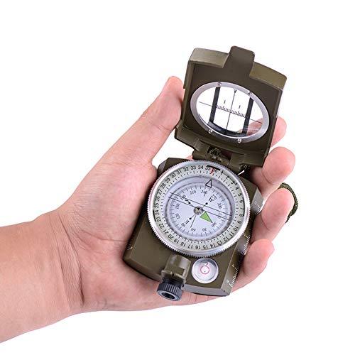 SJZJ Wasserdichter Kompass Kompass Shockproof Wandern Military Navigation Kompass mit Lanyard Zinklegierung Material inkl. englischer Bedienungsanleitung…