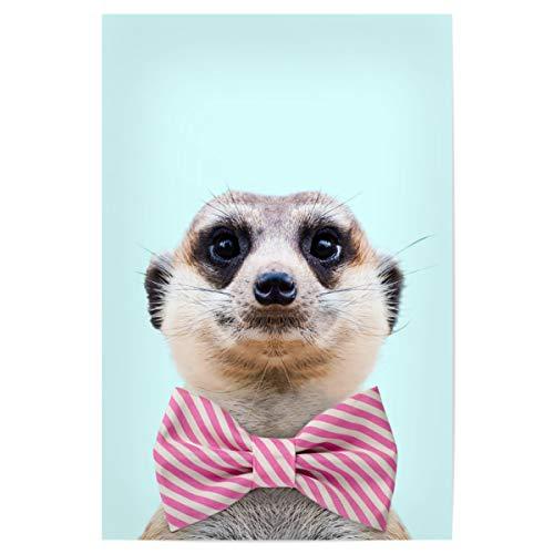 artboxONE Poster 30x20 cm Für Kinder Meerkat hochwertiger Design Kunstdruck - Bild Tier Meerkat wild