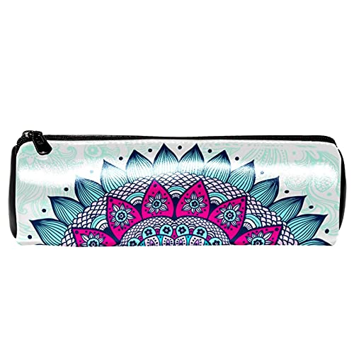 Hippie Bohemia Mandala estuche de papelería bolsa de almacenamiento organizador bolsa de cosméticos para la escuela, adolescentes, niñas, niños, hombres y mujeres