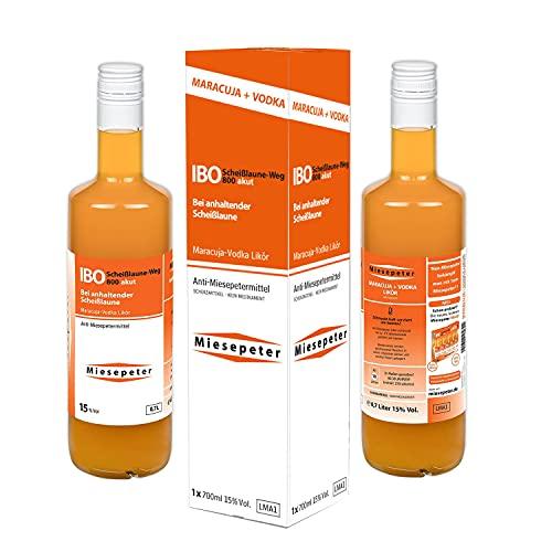 Miesepeter Likör - IBO Scheißlaune-Weg 800 akut (Maracuja + Vodka, 0,7l Flasche)