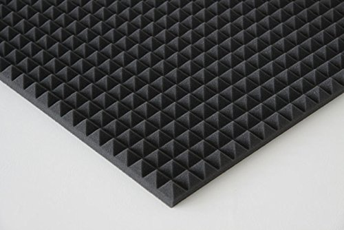 Pyra 3100, ca. 100 x 50 x 3 cm, antraciet zwart, FSE (brandvertragend volgens MVSS302) (verpakkingseenheid = 400 platen = ca. 200 m2)