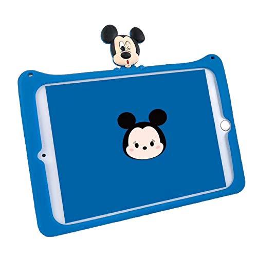 HikerClubTabletCaseforiPad2 3 4Minnie MickeyCuteCartoonCasewithFoldStandUltraSoftSlimSilicaShockproofCoverforGirlsBoysKidsChildren (Mickey)