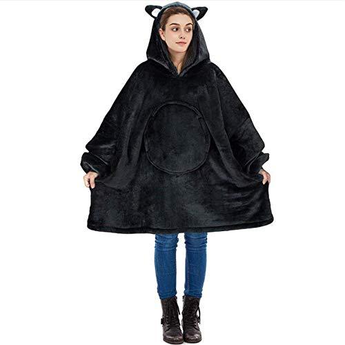 Kapokilly Panda Übergroßes Sherpa Hoodie-Decken-Sweatshirt, Riesenpullover Mit Großer Fronttasche - Superweicher, Warmer, Bequemer,für Frauen, Jungen, Mädchen, Teenager, Kinder, Geschenkidee