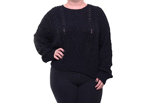 Ralph Lauren Denim & Supply Damen Pullover aus Baumwolle mit Zopfmuster -  Schwarz -  Klein