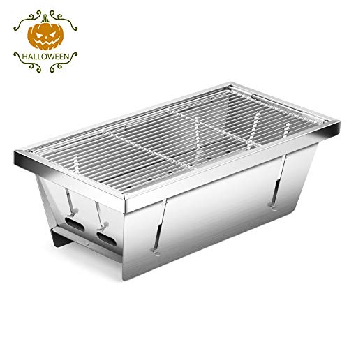 CANWAY Charcoal BBQ Grill,Portable Foldable One Second Installed...